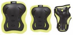NILS Extreme Zestaw ochraniaczy H726 czarno-limonkowy r. L