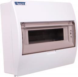 INCOBEX Rozdzielnica modułowa 1x12 natynkowa IP40 z klapką dymną S-12+SZYBKA+N+PE 800600 (ENE-00353)