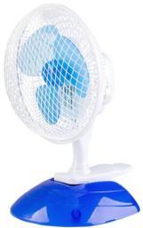 ADR Wentylator biurkowy średnica 15 cm z klipsem biało-niebieski 13W  - AD0658
