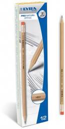 Lyra Ołówek Pro Natura HB/2 z Gumką (12szt) (273674)