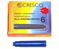 CRESCO Naboje do piór niebieskie 6 sztuk dla leworęcznych (274613)