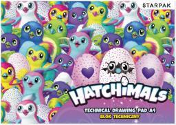 Blok biurowy Starpak Blok techniczny A4/10k biały Hatchimals