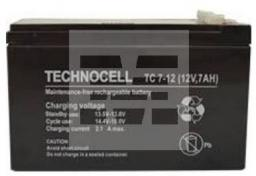 TECHNOCELL Akumulator bezobsługowy AGM 7Ah 12V Technocell (7TC)