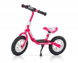 Milly Mally Rower dziecięcy Dusty 12'' różowo-biały (GXP-628623)