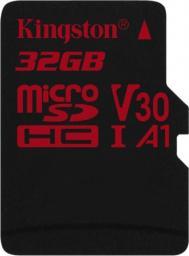 Karta MicroSD Kingston Canvas React 32GB UHS-I (SDCR/32GBSP)