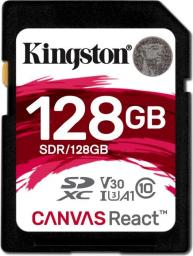 Karta pamięci Kingston Canvas React SDXC 128GB V30 (SDR/128GB)