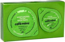 Cafe Mimi Zestaw 2-etapowy do twarzy nawilżający (maseczka 15ml+serum-aktywator 5ml)