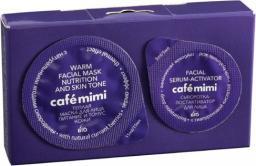 Cafe Mimi Zestaw 2-etapowy do twarzy rozgrzewając-odżywiający (maseczka 15ml+serum-aktywator 5ml)