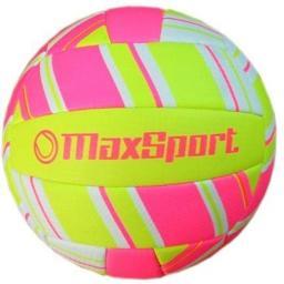 Piłka siatkowa Max Sport, różowo-żółta  (274397)