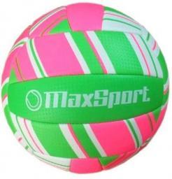 Piłka siatkowa Max Sport, różowo-zielona  (274395)
