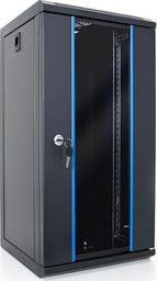 Szafa DigitalBOX START.LAN szafa RACK 10'' 12U 312x300mm black (drzwi szklane) - STLWMC10C-12U-GSB