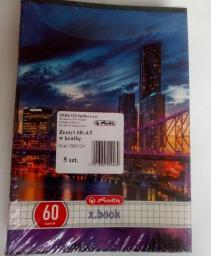 Herlitz Zeszyt A5/60k linia City Light (5szt) (275190)