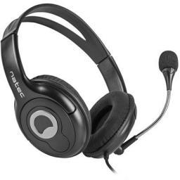 Słuchawki z mikrofonem Natec Bear 2 czarne (NSL-1178)