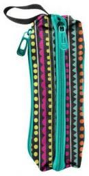 Piórnik Paso Piórnik trzykomorowy kolorowe szlaczki (275541)