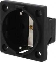 PCE Gniazdo tablicowe P-NOVA+ czarne 16A 2P+Z  SCHUKO (10584-0s )