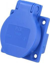 PCE Gniazdo tablicowe 10/16A 2P+Z 230V niebieskie IP54 (1040-0bs)