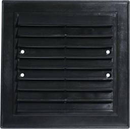 Unimet Kratka wentylacyjna 14x14 skręcana, czarna