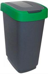 Kosz na śmieci Unimet Klip do segregacji uchylny 25L zielony (POJ KLIP25Z)