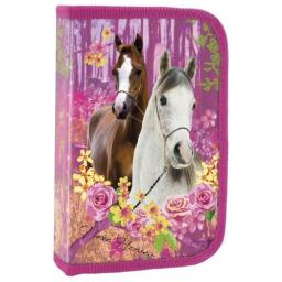 Piórnik Derform Piórnik jednokomorowy Konie 15 różowy (PJKO15)