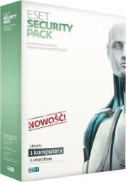 ESET Security Pack 3 PC + 3 Smartfony 3 użytkowników 1 rok BOX (ESP-N3D1Y)