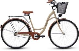 Goetze Rower miejski ECO Koło 28 + KOSZ Metal cappucino