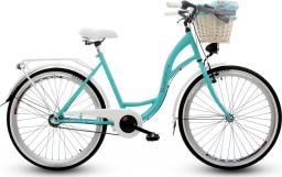 Goetze Rower miejski Blueberry 26″ trzybiegowy niebiesko-biały z metalowym koszem