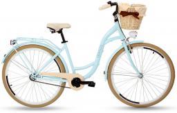Goetze Rower COLOURS 28 - 1 BIEG Kosz wiklina + Wkładka błękit kremowa opona