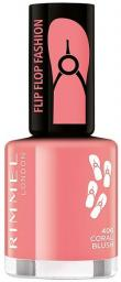 Rimmel  Lakier do paznokci Flipflop Fashion 406 Coral Blush 8ml