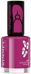 Rimmel  Lakier do paznokci Flipflop Fashion 336 Violet En Vogue 8ml