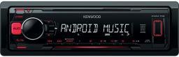 Radio samochodowe Kenwood  czerwony (KMM-104 RY)