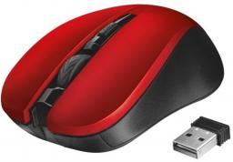 Mysz Trust Mydo Silent Click bezprzewodowa czerwona (21871)