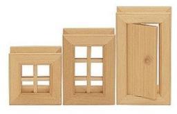 Varis Toys Okna i Drzwi Do Klocków Konstrukcji, 3 Szt (VTOY0310)