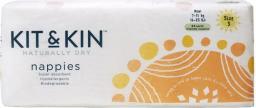 Kit and Kin Biodegradowalne Pieluszki Jednorazowe Maxi (7-11kg), Mix Wzorów, 34 szt. (KAK00020)