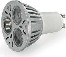 Whitenergy Żarówka LED |GU10 |3xLED |230V |3W |ciepła biała | (6952)