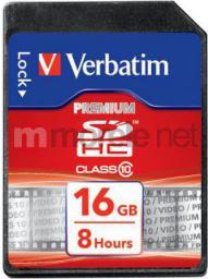 Karta Verbatim Premium SDHC 16 GB Class 10  (43962)