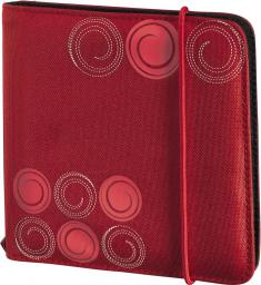Hama CD Wallet Slim 24 CD Czerwony Gumka (95669)