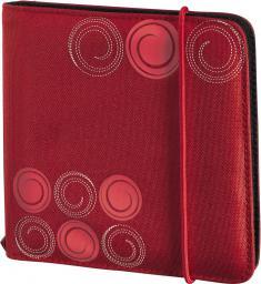 Hama CD Wallet Slim 24 CD Czerwony Gumka (95669)