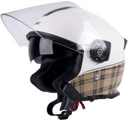W-TEC Kask motocyklowy otwarty V586 z blendą biały perłowy r. M (57-58) (9633)