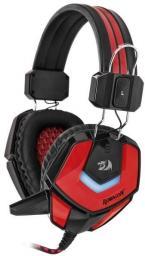 Słuchawki z mikrofonem Redragon RIDLEY Gaming czarno-czerwone (64204)