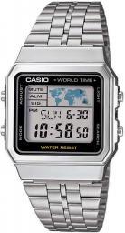 Zegarek Casio Zegarek męski srebrny (A500WEA-1EF)
