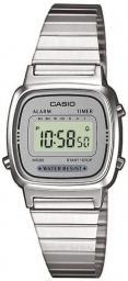Zegarek Casio Zegarek damski Retro srebrny (LA670WEA-7EF)