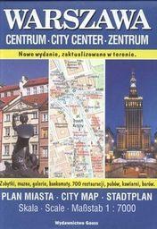 Warszawa centrum plan miasta 1:7 000