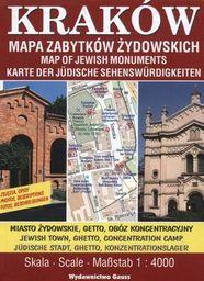 Kraków mapa zabytków żydowskich 1:4 000