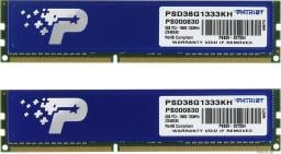 Pamięć Patriot Signature, DDR3, 8 GB,1333MHz, CL9 (PSD38G1333KH)