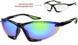 Arctica Okulary sportowe czarne (S-50C)