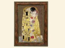 """Artitalia di Roberto Pancheri s.a.s. Gustav Klimt """"Pocałunek"""" Ciemne Tło (261-8421)"""