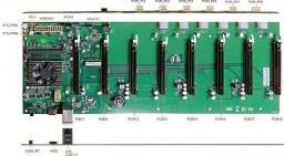 Qoltec Profesjonalna płyta główna do koparki kryptowalut | 8x PCI-E | zintegrowany procesor Intel Celeron 3865U - 55503 - 55503