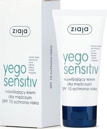 Ziaja ZIAJA_Yego Sensitiv nawilżający krem dla mężczyzn SPF 10 ochrona niska 50ml  - 5901887038177