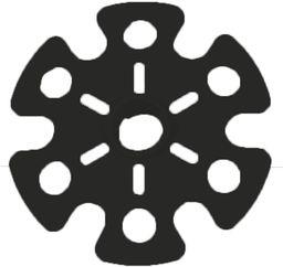 Viking Talerzyki śniegowe 5005 czarne (666/19/5005/09/UNI)