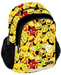 Starpak Plecak szkolny Emoji STK-40 żółto-czarny (396192)